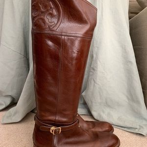 Tory Burch Brown Riding Boot